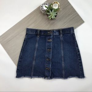 Forever 21 Button Down Jean Skirt  #393